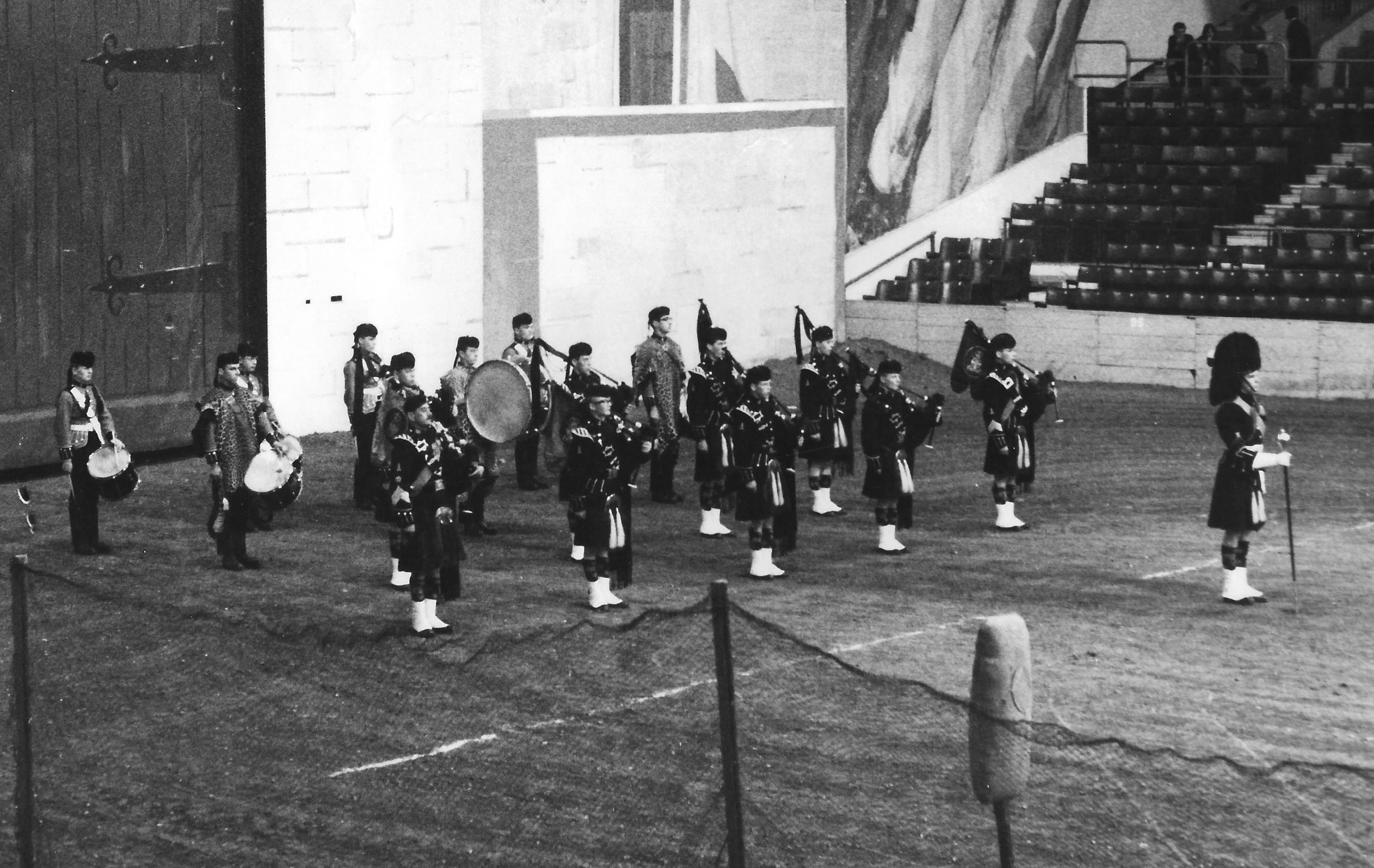 AAC Pipe Band 1966-7 Earls Court