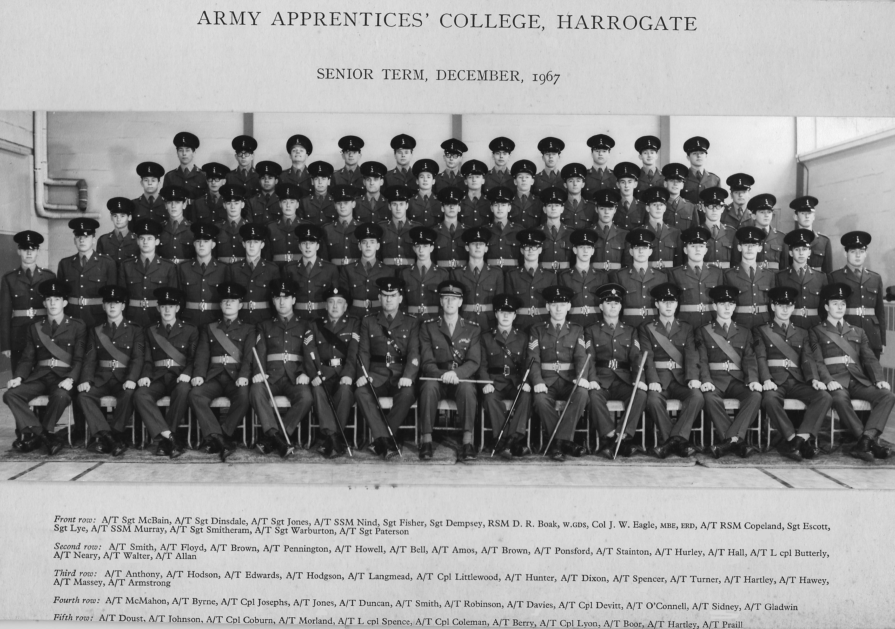 AAC Senior Term Dec 1967